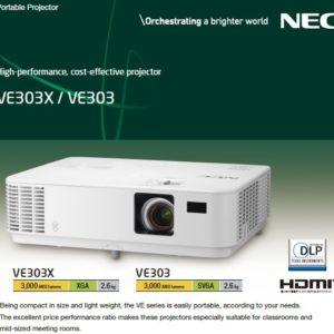 Nec Np-ve303x 3000-lumen Xga Dlp Portable Projector